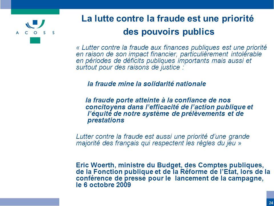 La lutte contre la fraude est une priorité
