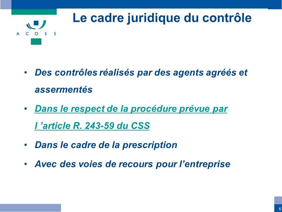 Le cadre juridique du contrôle
