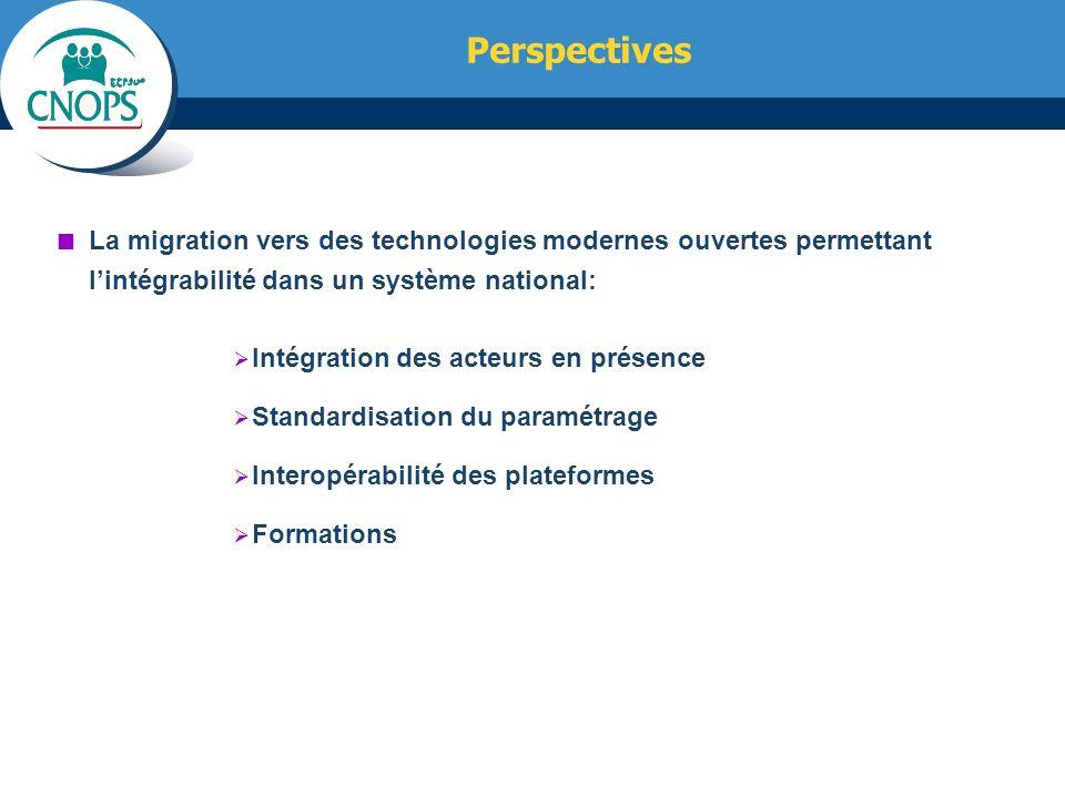 Perspectives La migration vers des technologies modernes ouvertes permettant l'intégrabilité dans un système national:
