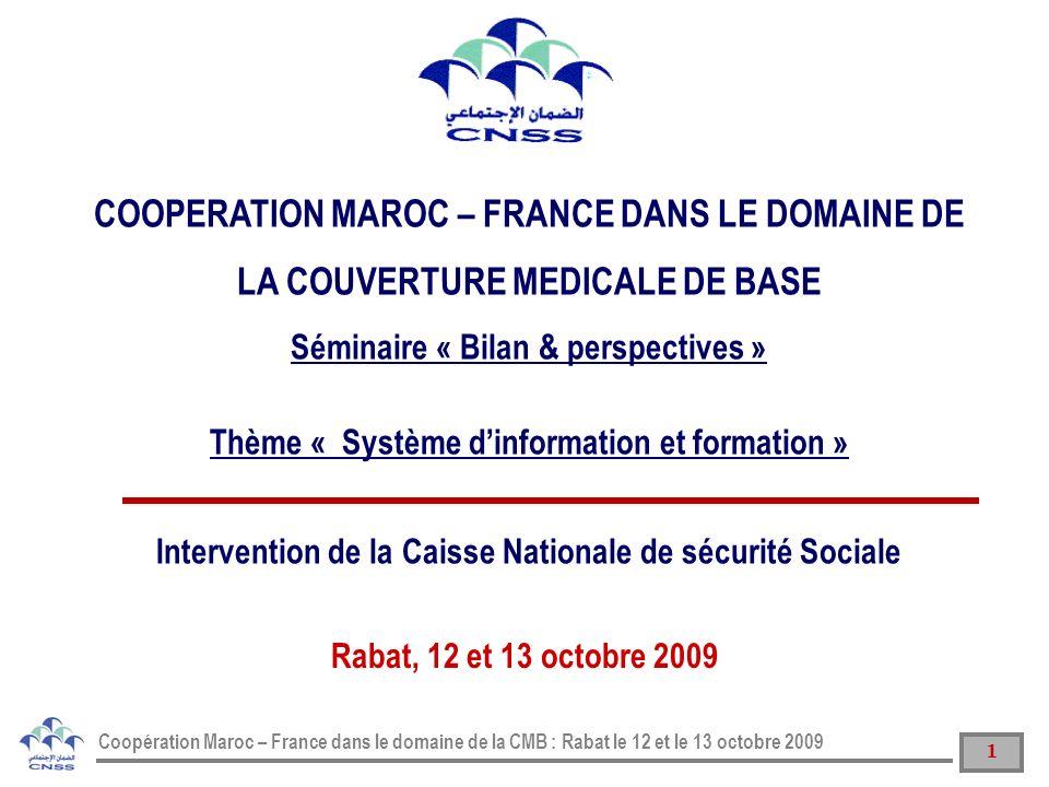 COOPERATION MAROC – FRANCE DANS LE DOMAINE DE LA COUVERTURE MEDICALE DE BASE