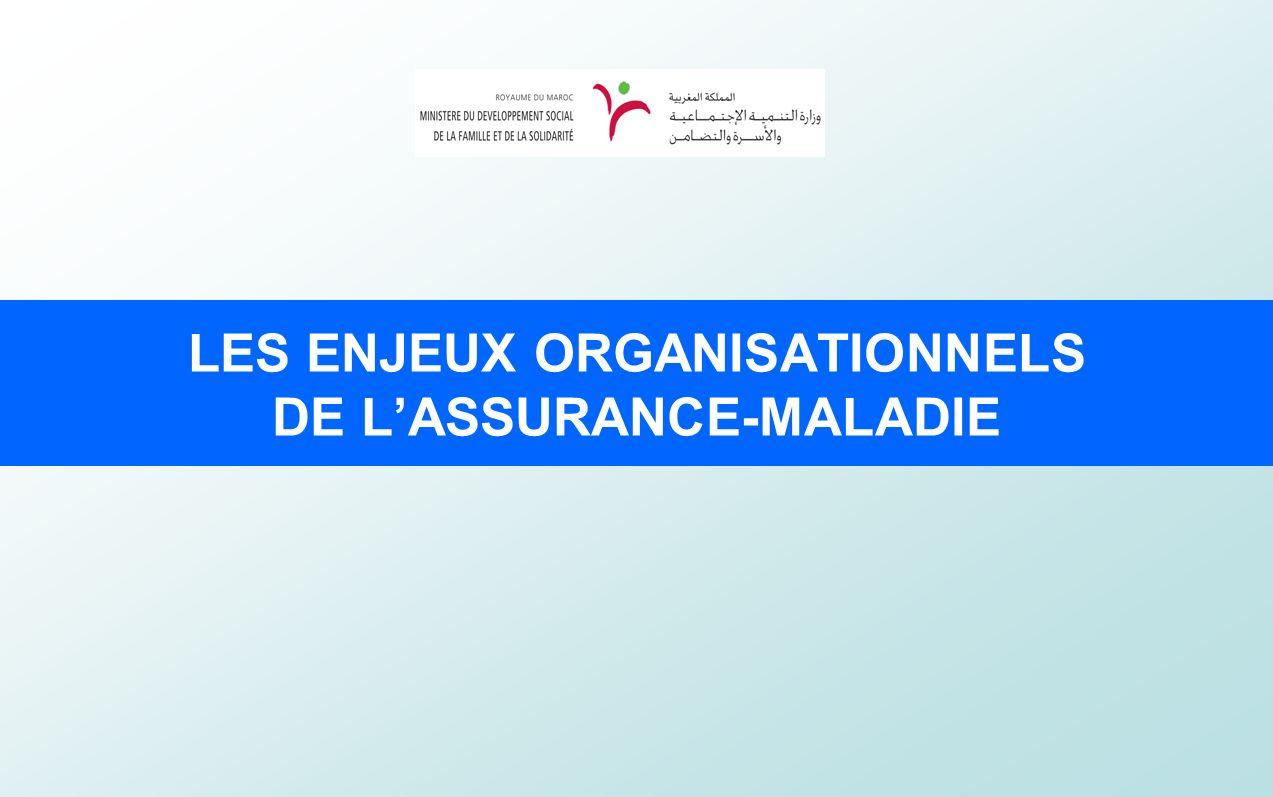 LES ENJEUX ORGANISATIONNELS DE L'ASSURANCE-MALADIE