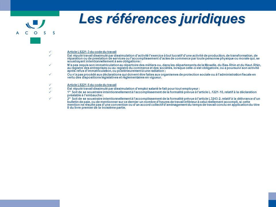 Les références juridiques