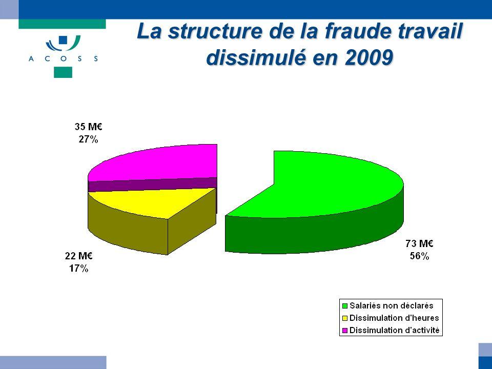 La structure de la fraude travail dissimulé en 2009