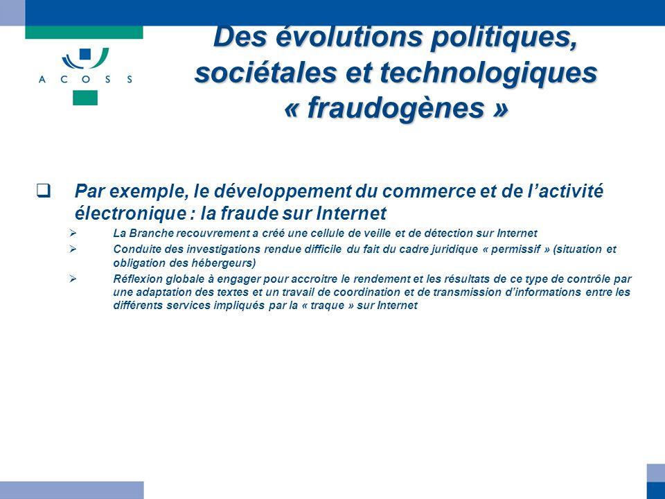 Des évolutions politiques, sociétales et technologiques « fraudogènes »
