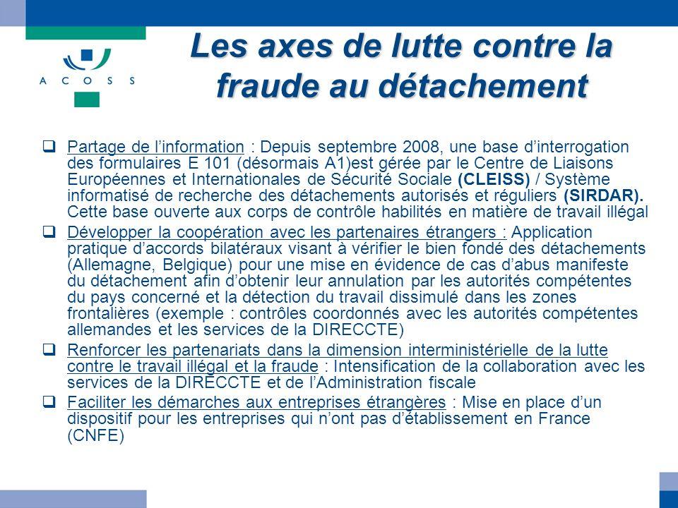 Les axes de lutte contre la fraude au détachement