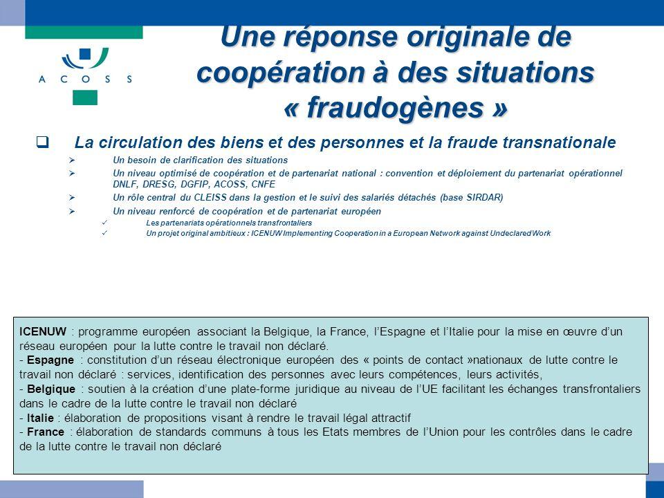 Une réponse originale de coopération à des situations « fraudogènes »