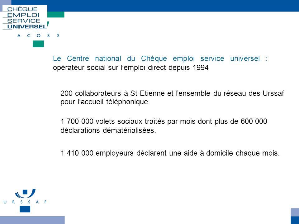 Le CncesuLe Centre national du Chèque emploi service universel : opérateur social sur l'emploi direct depuis 1994.