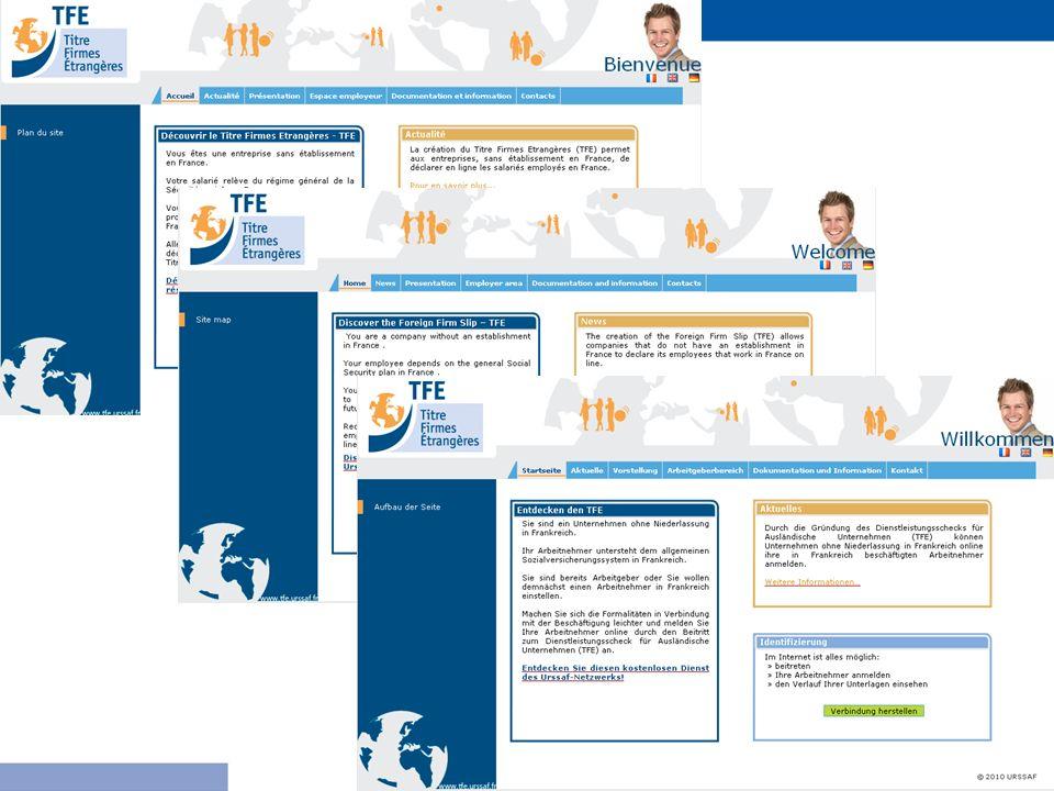 Le site se décline en 3 langues (français, anglais allemand) : il est possible de passer à tout moment d'une langue à l'autre grâce aux icones appropriées.