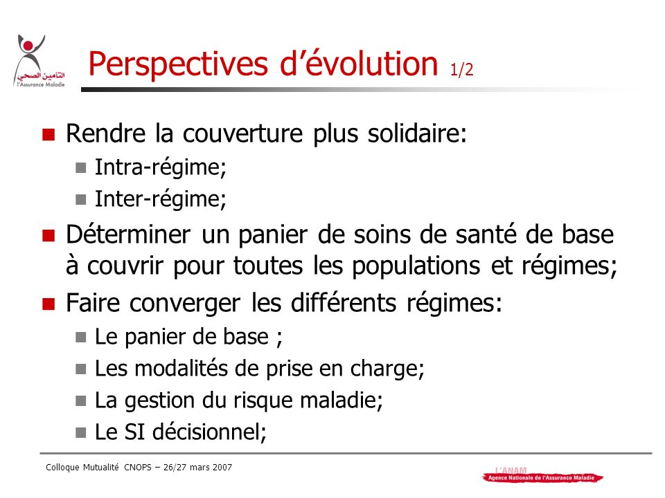 Perspectives d'évolution 1/2