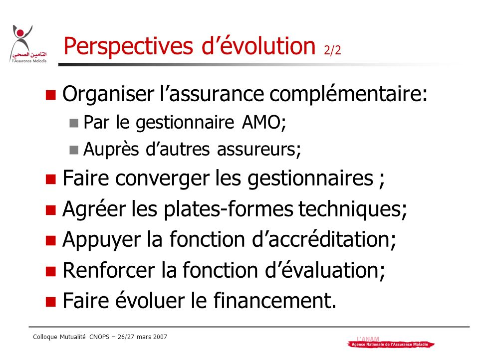 Perspectives d'évolution 2/2