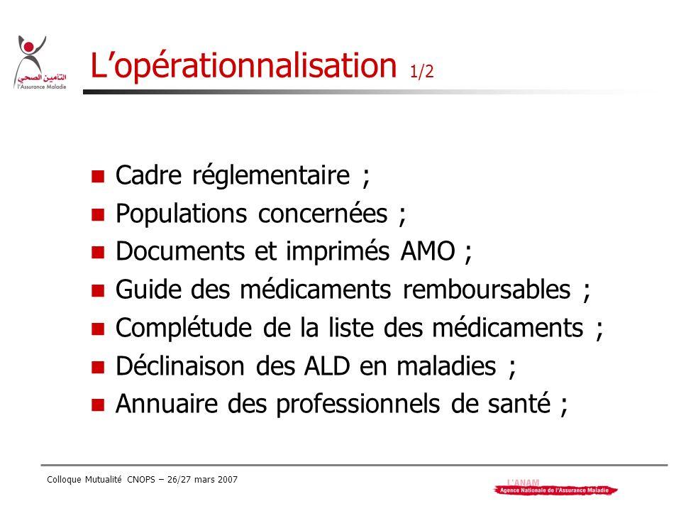 L'opérationnalisation 1/2
