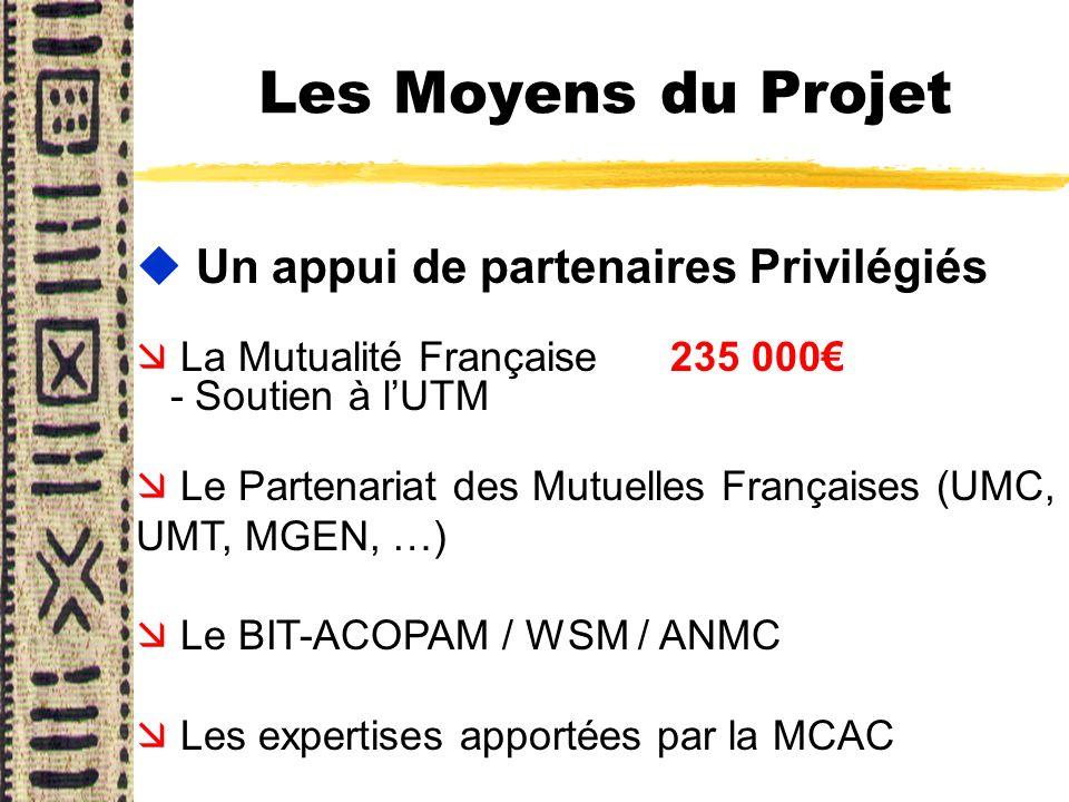 Les Moyens du Projet Un appui de partenaires Privilégiés