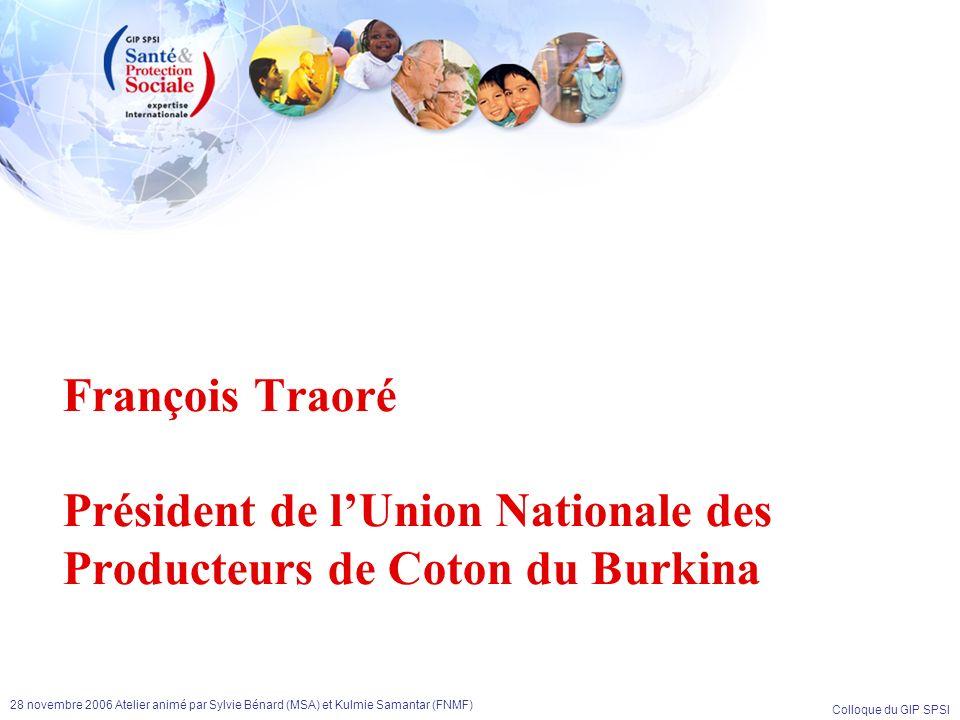 François Traoré Président de l'Union Nationale des Producteurs de Coton du Burkina