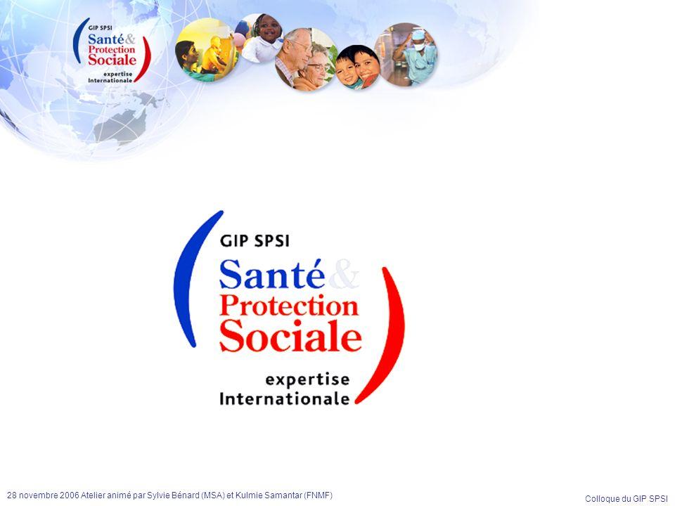 28 novembre 2006 Atelier animé par Sylvie Bénard (MSA) et Kulmie Samantar (FNMF)
