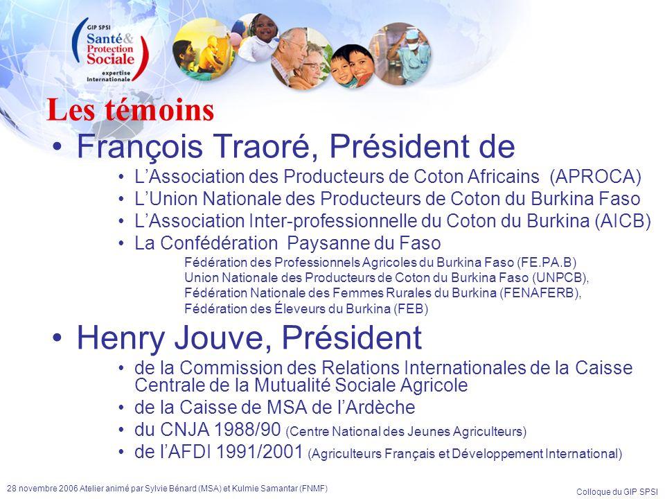 François Traoré, Président de