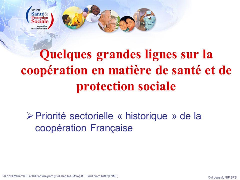 Quelques grandes lignes sur la coopération en matière de santé et de protection sociale