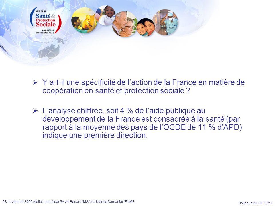 Y a-t-il une spécificité de l'action de la France en matière de coopération en santé et protection sociale