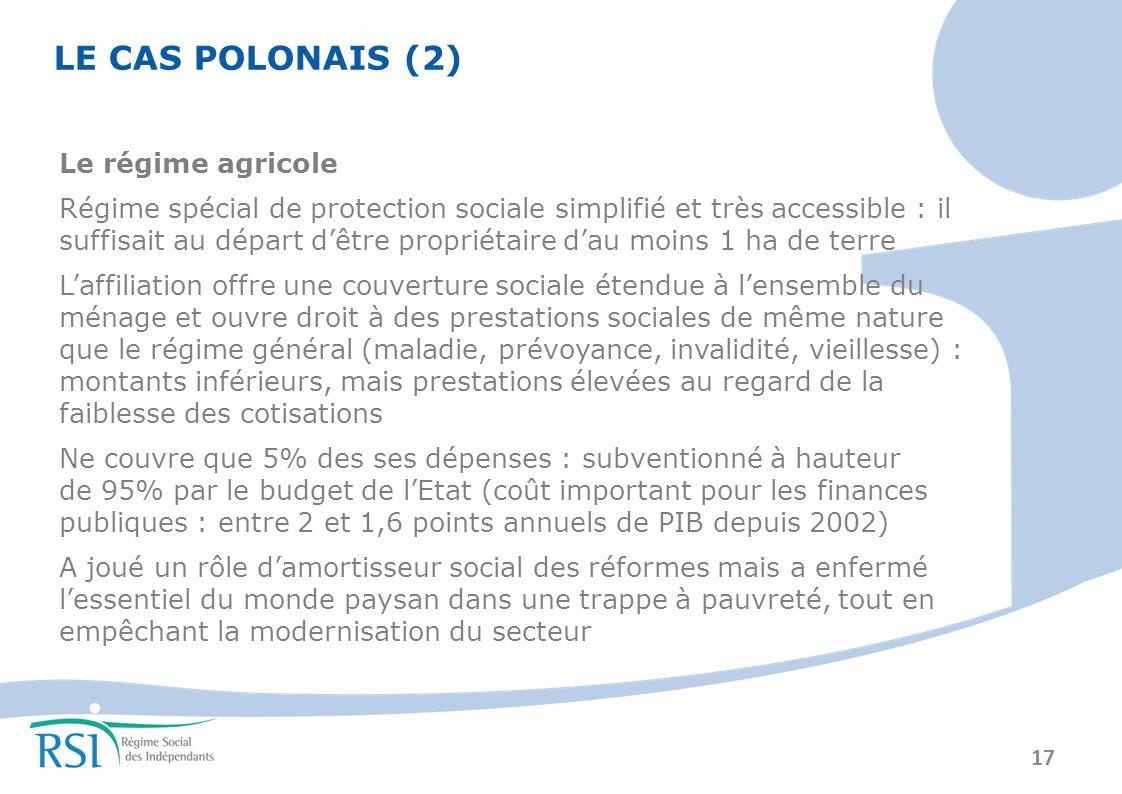 LE CAS POLONAIS (2) Le régime agricole