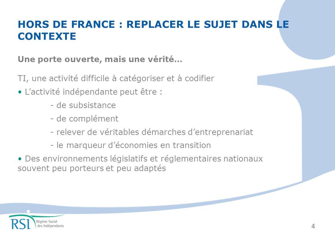 HORS DE FRANCE : REPLACER LE SUJET DANS LE CONTEXTE