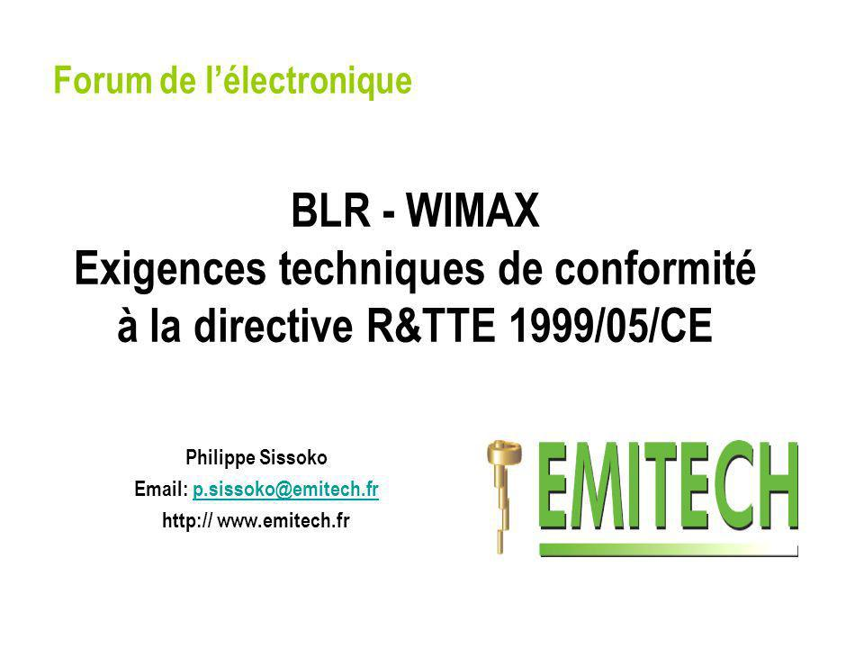 Philippe Sissoko Email: p.sissoko@emitech.fr http:// www.emitech.fr