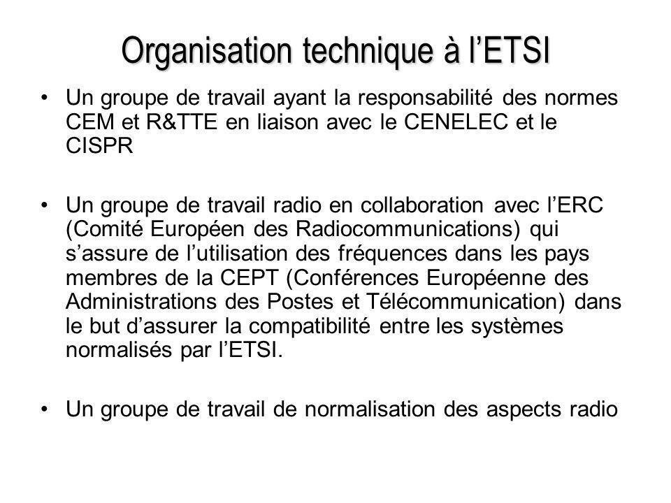 Organisation technique à l'ETSI