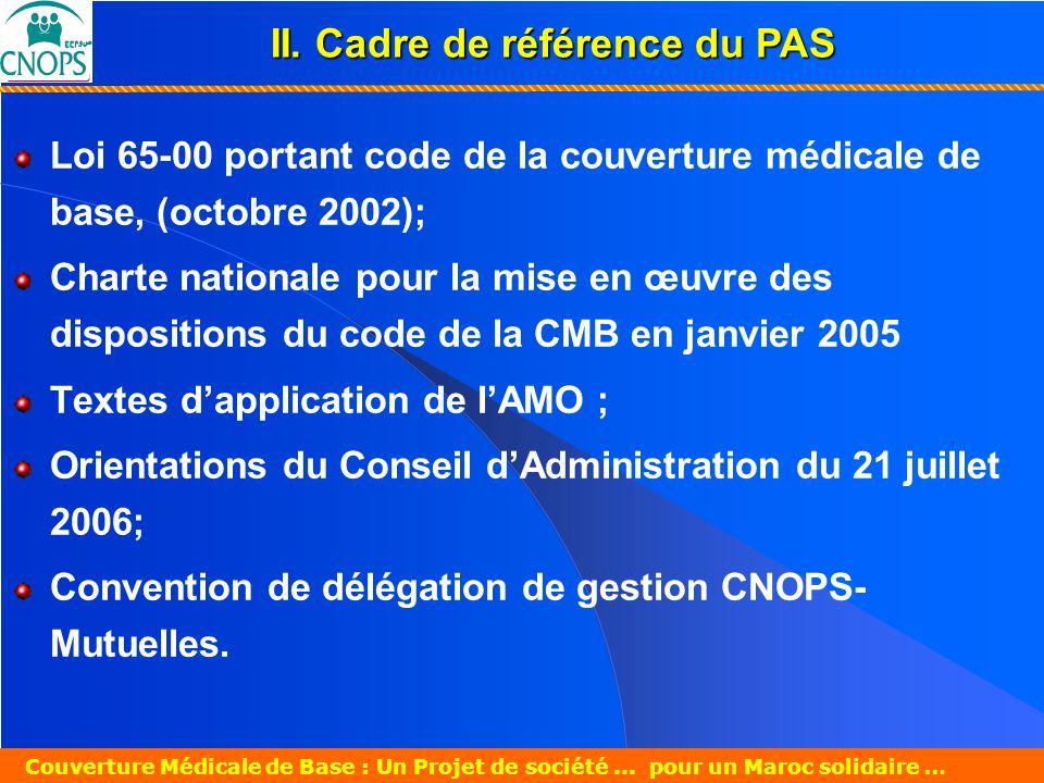 II. Cadre de référence du PAS