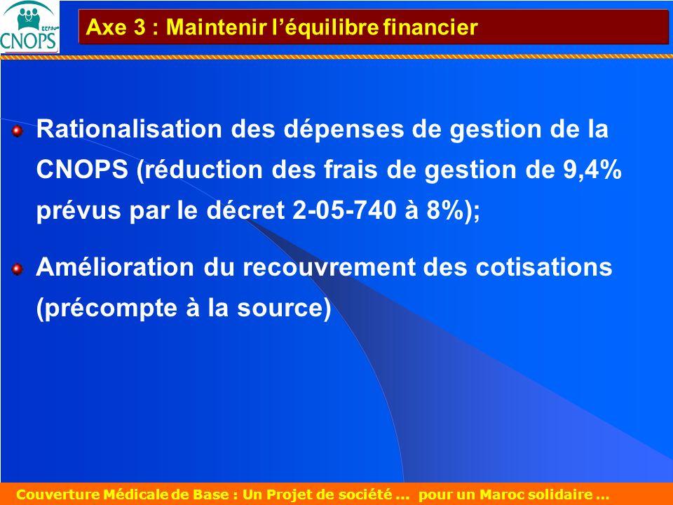 Amélioration du recouvrement des cotisations (précompte à la source)