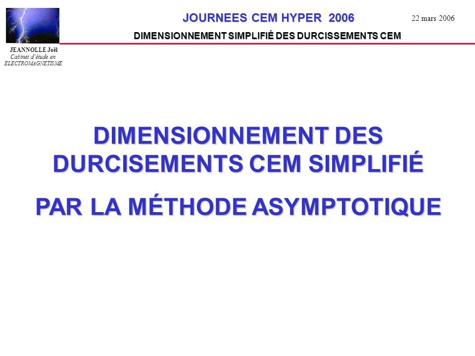 DIMENSIONNEMENT DES DURCISEMENTS CEM SIMPLIFIÉ