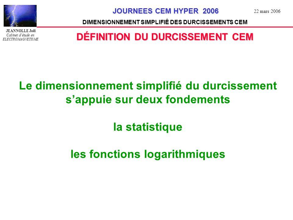 DÉFINITION DU DURCISSEMENT CEM les fonctions logarithmiques