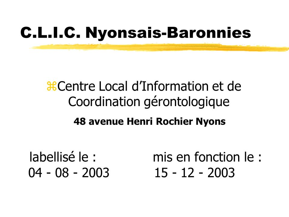 C.L.I.C. Nyonsais-Baronnies