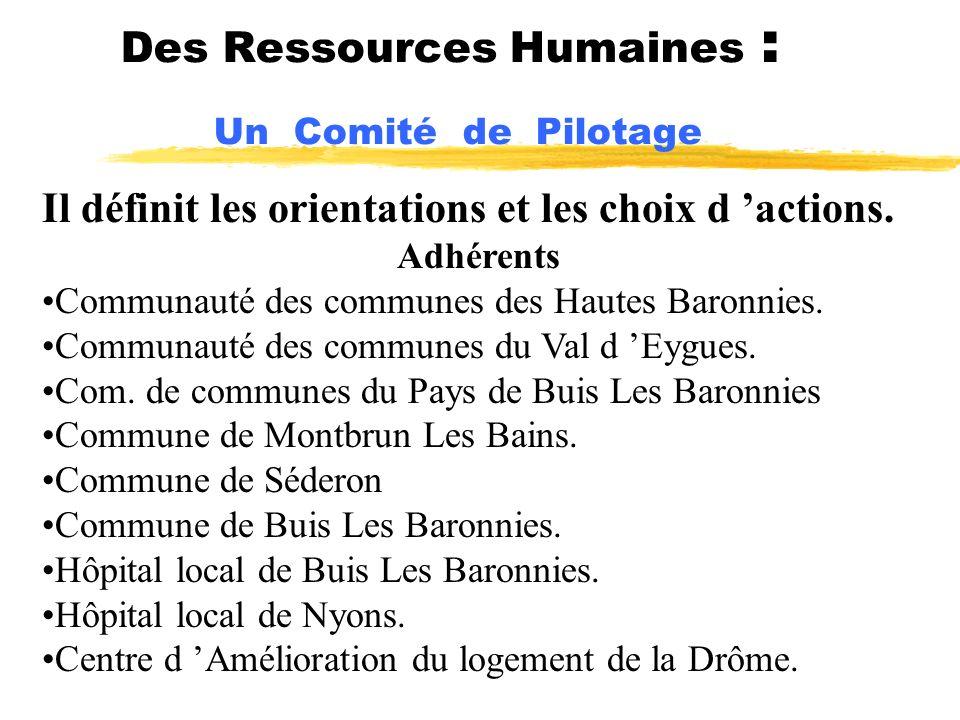Des Ressources Humaines : Un Comité de Pilotage
