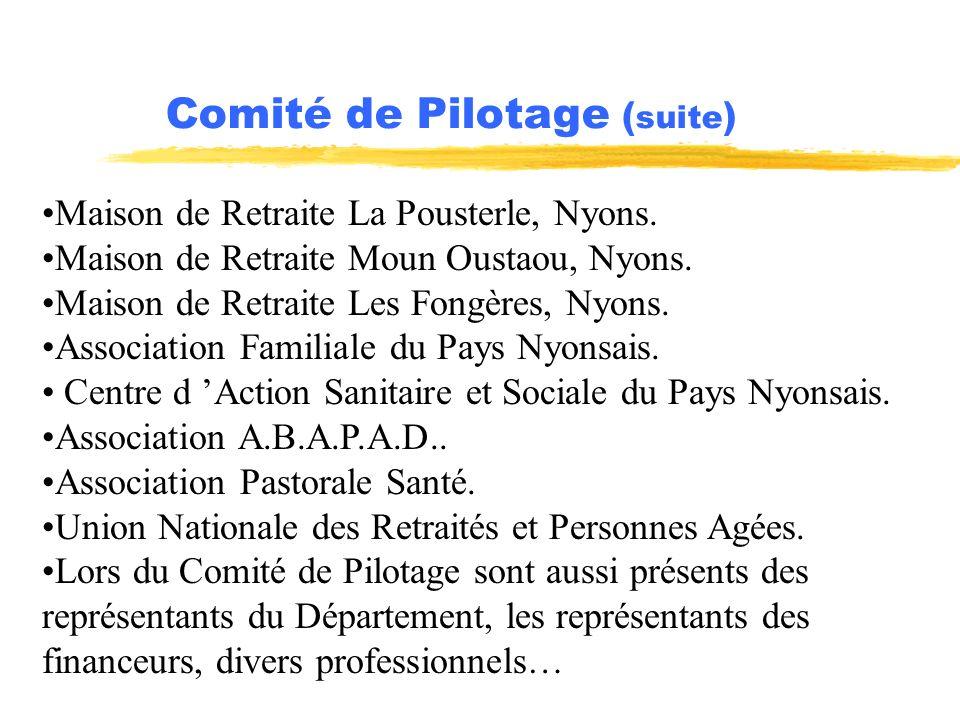 Comité de Pilotage (suite)