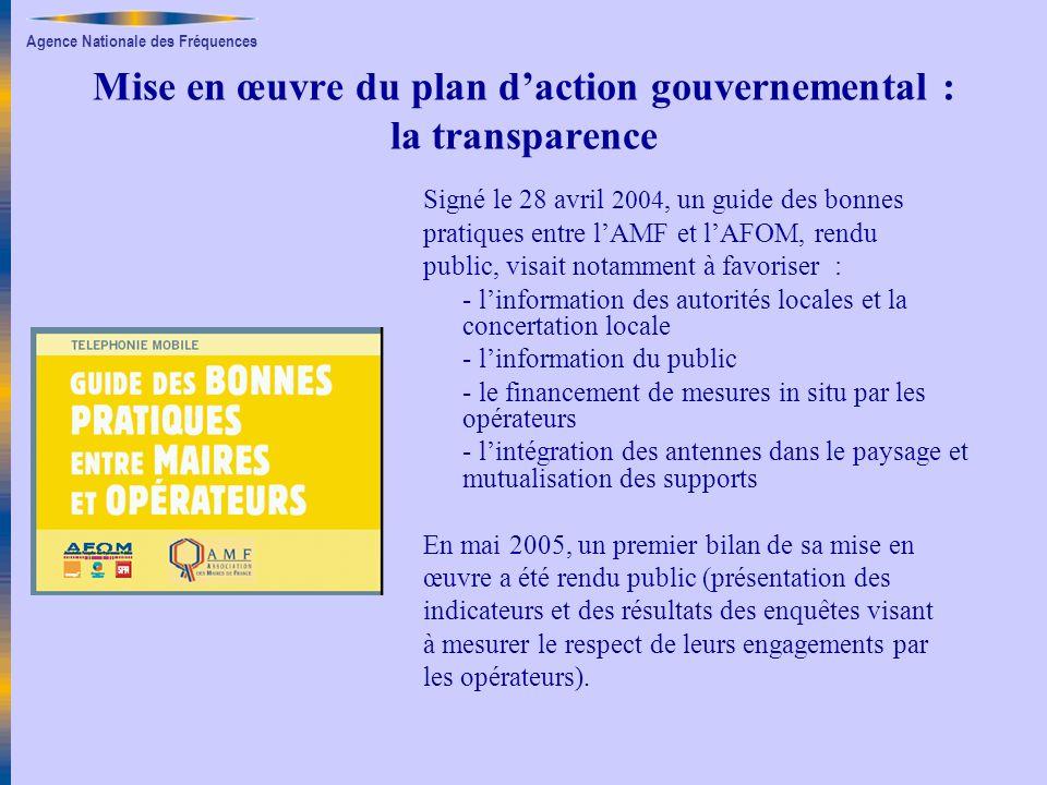 Mise en œuvre du plan d'action gouvernemental : la transparence