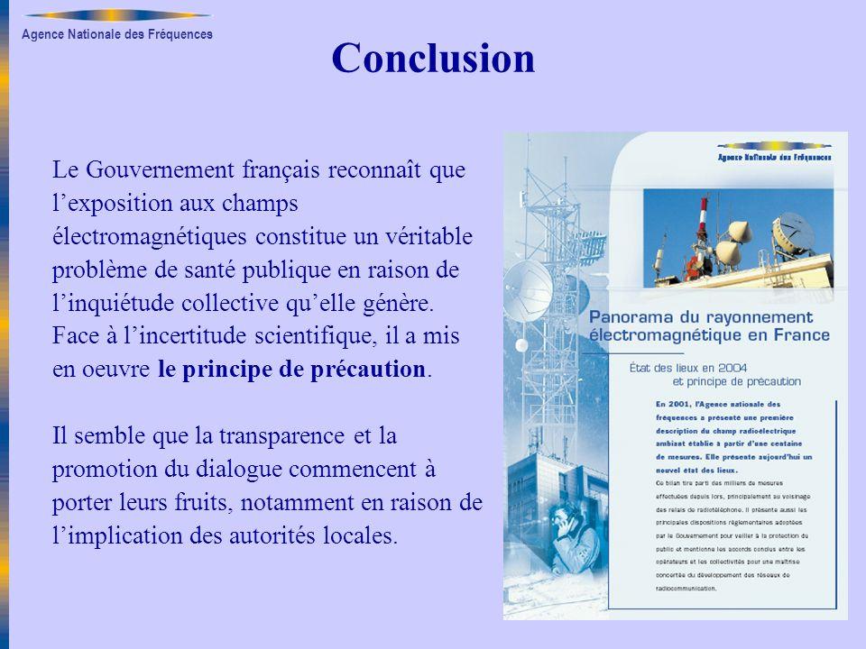 Conclusion Le Gouvernement français reconnaît que