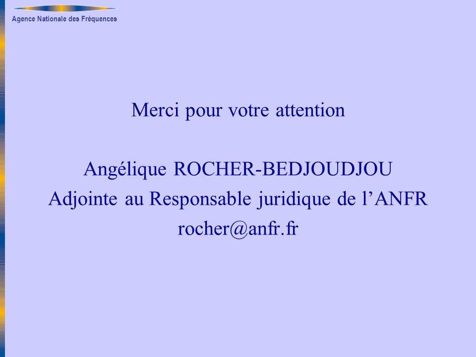 Merci pour votre attention Angélique ROCHER-BEDJOUDJOU