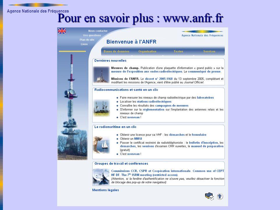 Pour en savoir plus : www.anfr.fr