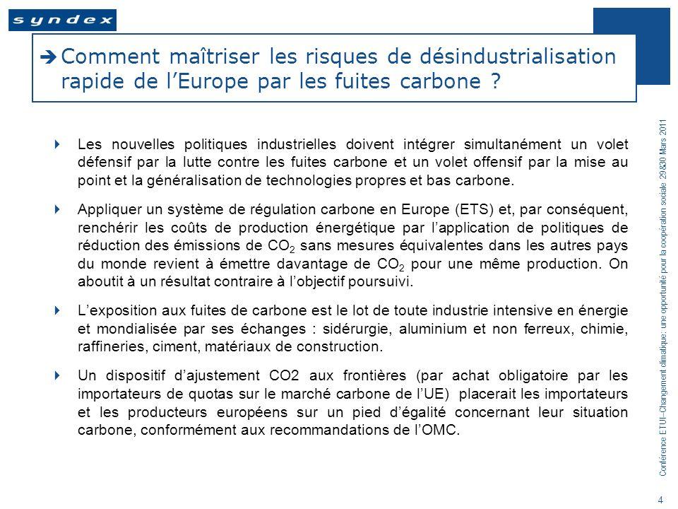 Comment maîtriser les risques de désindustrialisation rapide de l'Europe par les fuites carbone