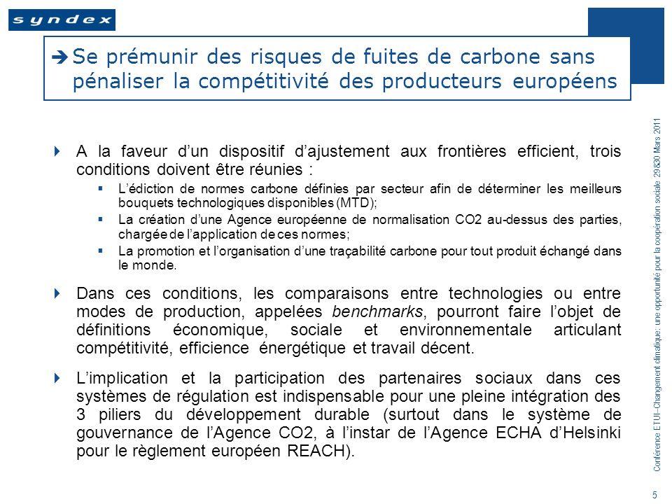 Se prémunir des risques de fuites de carbone sans pénaliser la compétitivité des producteurs européens