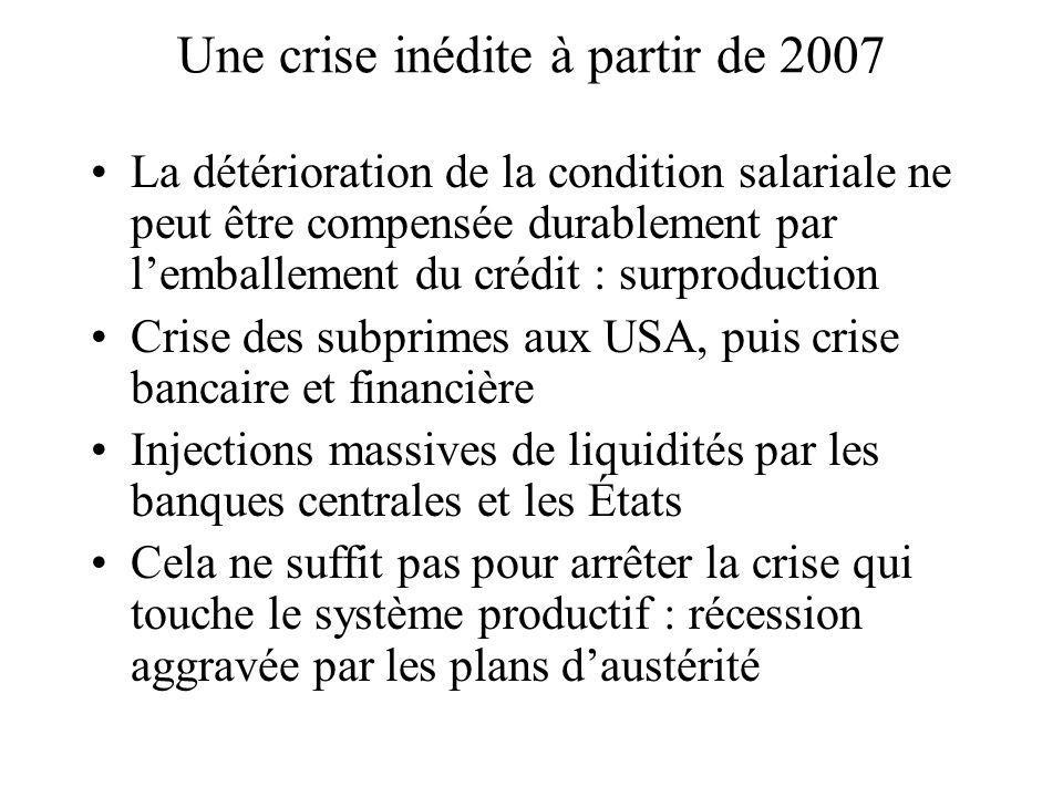 Une crise inédite à partir de 2007