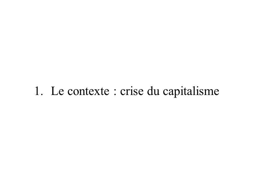 Le contexte : crise du capitalisme