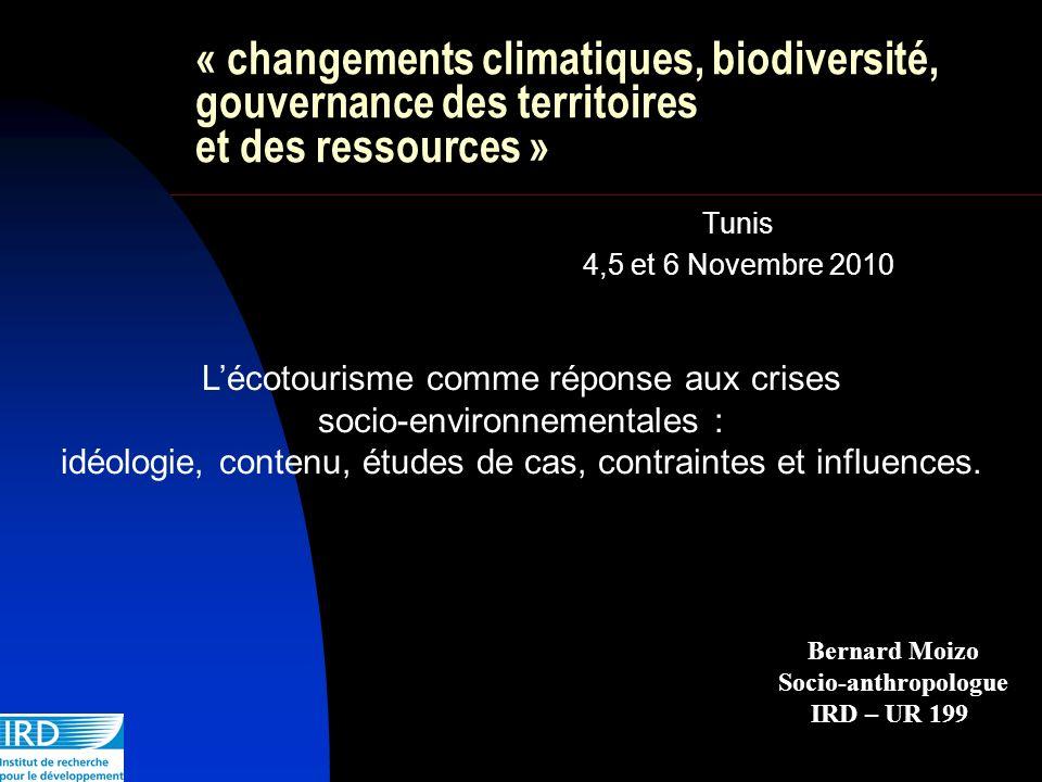 « changements climatiques, biodiversité, gouvernance des territoires et des ressources »