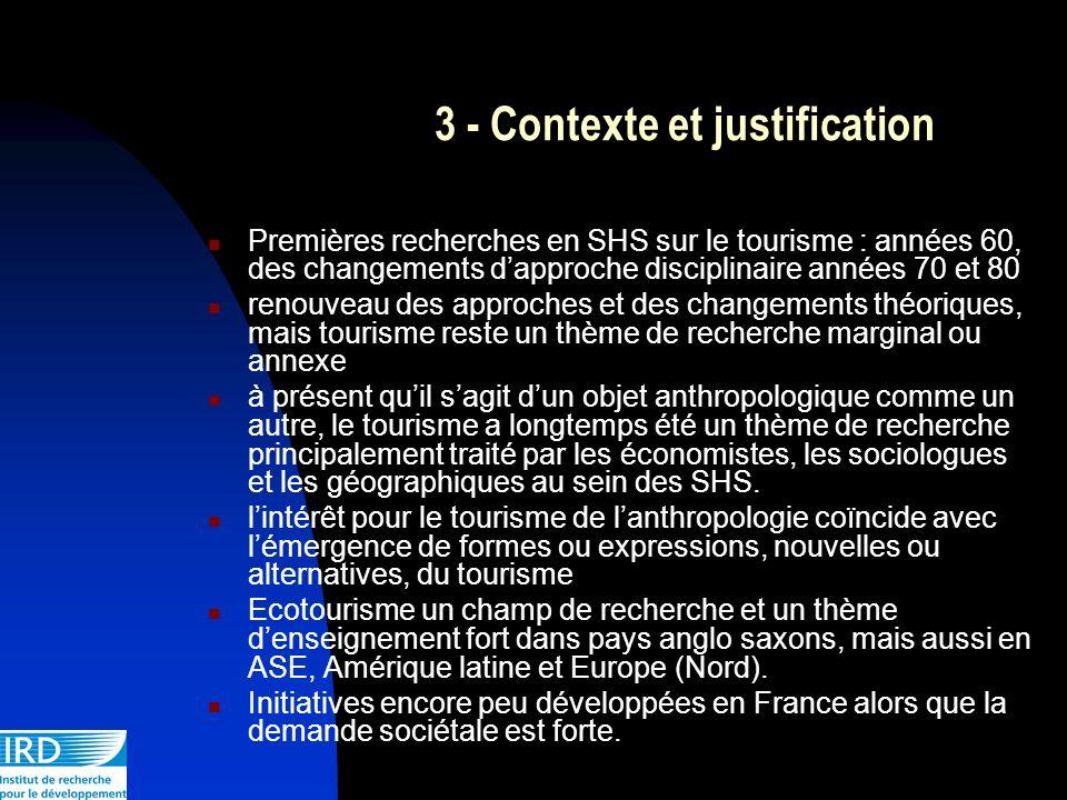 3 - Contexte et justification