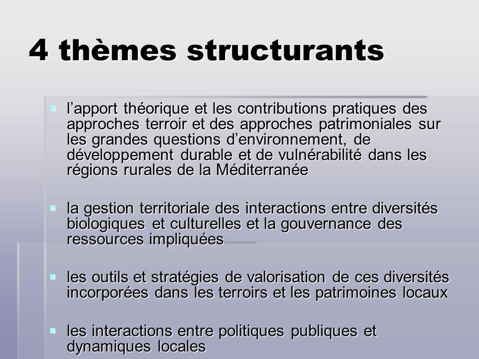 4 thèmes structurants