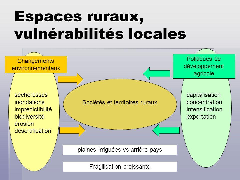 Espaces ruraux, vulnérabilités locales