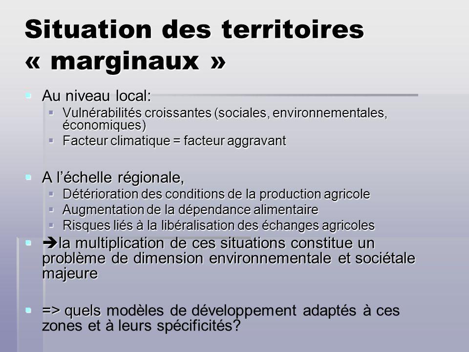 Situation des territoires « marginaux »