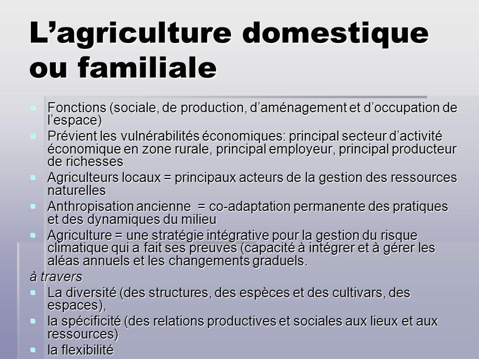 L'agriculture domestique ou familiale