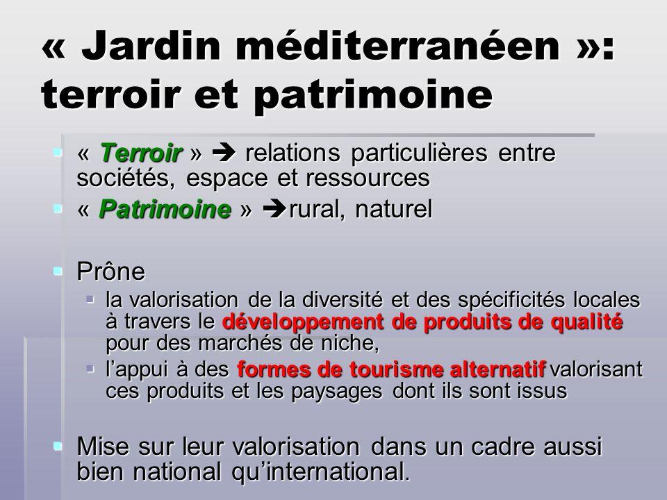 « Jardin méditerranéen »: terroir et patrimoine