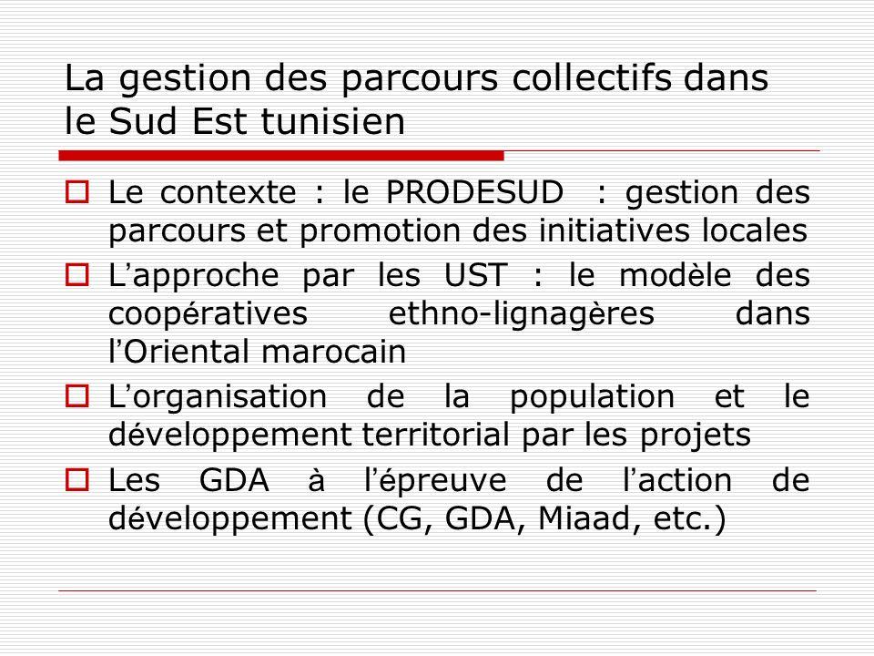 La gestion des parcours collectifs dans le Sud Est tunisien