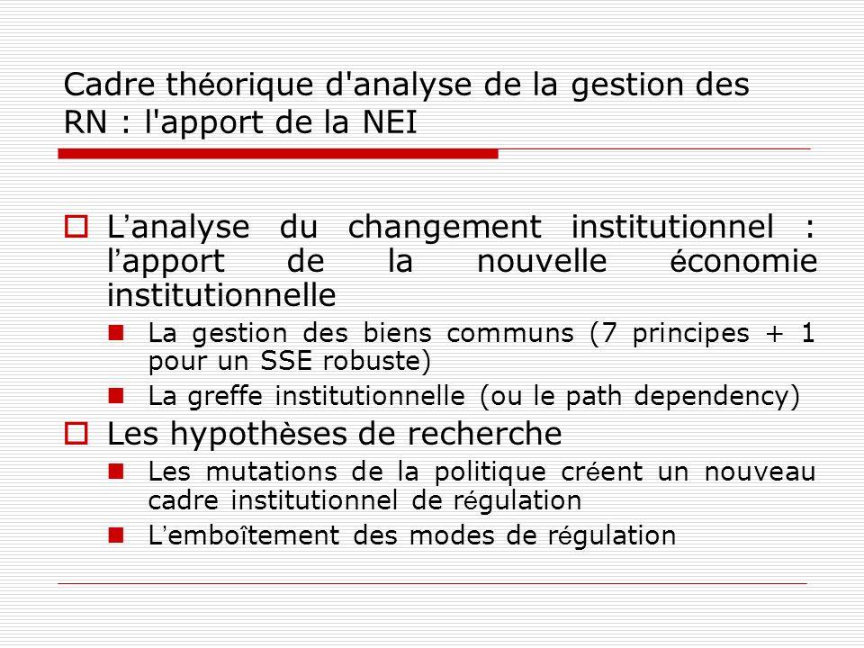 Cadre théorique d analyse de la gestion des RN : l apport de la NEI