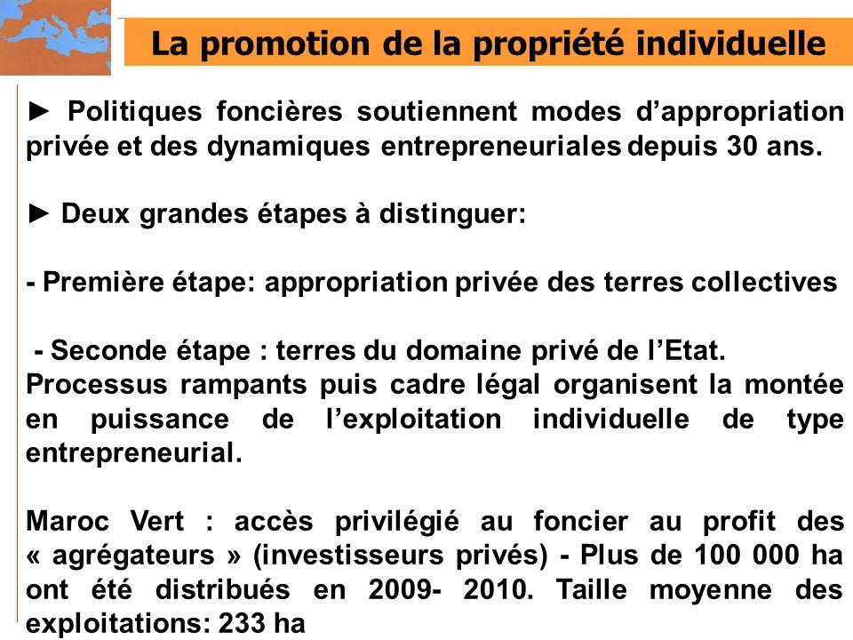 La promotion de la propriété individuelle